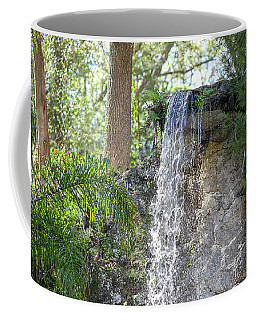 Coffee Mug featuring the photograph Long Waterfall Drop by Raphael Lopez