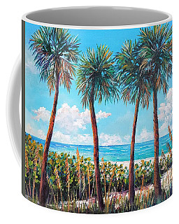 Longboat Key Palms Coffee Mug by Lou Ann Bagnall