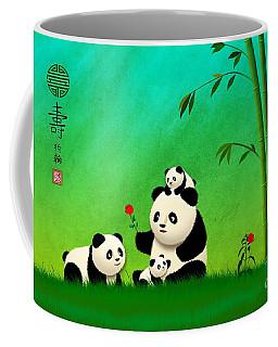 Longevity Panda Family Asian Art Coffee Mug
