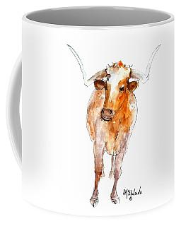 Longhorn 1 Watercolor Painting By Kmcelwaine Coffee Mug