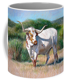 Coffee Mug featuring the painting Longhorn Bull by Sue Halstenberg
