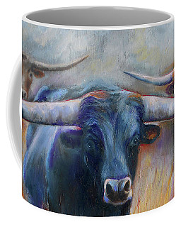 Longhorn Country Coffee Mug by Karen Kennedy Chatham