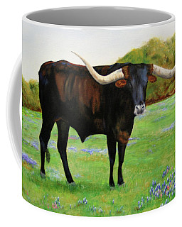Longhorn In Bluebonnets Coffee Mug