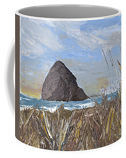 Longing For The Sounds Of Haystack Rock Coffee Mug