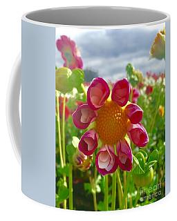 Look At Me Dahlia Coffee Mug by Susan Garren