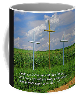 ... Look, He's Coming With The Clouds - From Revelation 1.7 Coffee Mug by Michael Mazaika