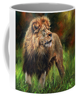 Look Of The Lion Coffee Mug by David Stribbling