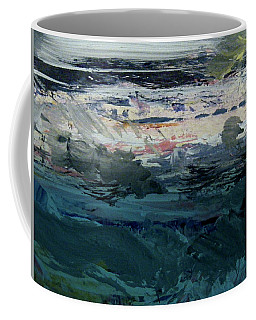 Coffee Mug featuring the painting Looking Back To Shore by Nancy Kane Chapman