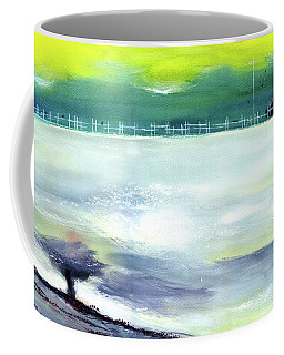 Coffee Mug featuring the painting Looking Beyond by Anil Nene