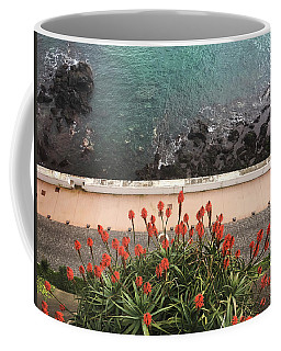 Coffee Mug featuring the photograph Looking Down, Angra Do Heroismo, Terceira Island Of Portugal by Kelly Hazel