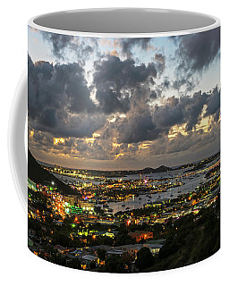 Looking Down At Saint Martin During Twilight Coffee Mug