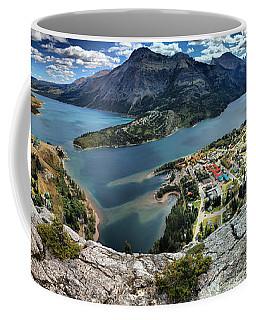 Looking Down On Waterton Lakes Coffee Mug