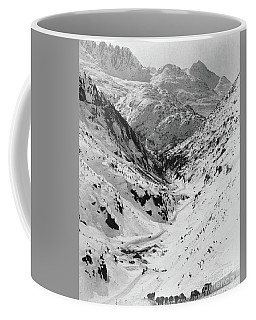 Looking Down Through Cutoff Canyon From Half Mile Below White Pass Summit, During The Klondike Gold  Coffee Mug