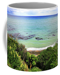 Coffee Mug featuring the photograph Looking Down To The Beach by Nareeta Martin