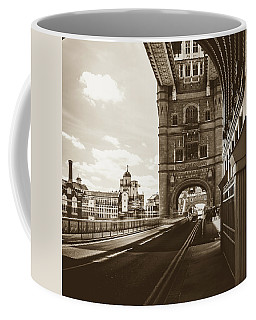 Coffee Mug featuring the photograph Looking Down Tower Bridge London by Jacek Wojnarowski