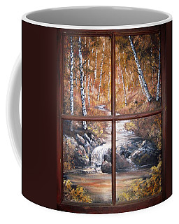 Looking Out Coffee Mug by Megan Walsh