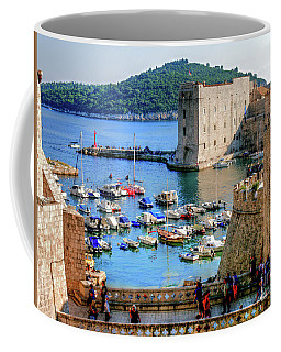 Looking Out Onto Dubrovnik Harbour Coffee Mug