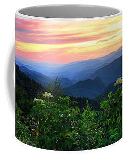 Looking Out Over Woolyback On The Blue Ridge Parkway  Coffee Mug