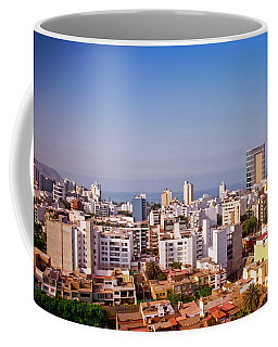 Coffee Mug featuring the photograph Looking Towards The Sea - Miraflores by Mary Machare