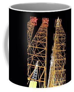 Looking Up At The Kilgore Lighted Derricks Coffee Mug