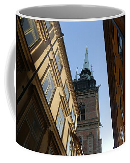 Looking Up From A Stockholm Street Coffee Mug