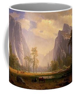 Looking Up The Yosemite Valley  Coffee Mug