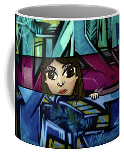 Coffee Mug featuring the drawing Lookout by Geoffrey C Lewis