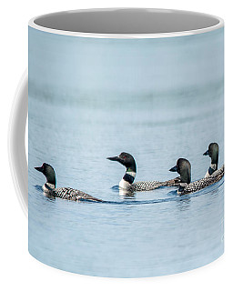 Loon Congregation Coffee Mug by Cheryl Baxter