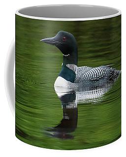 Loon Reflections On The Lake Coffee Mug