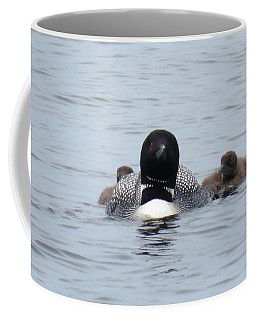 Loon With Chicks Coffee Mug
