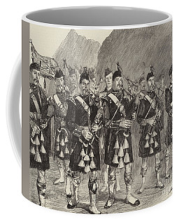 Lord Archibald Campbell And His Pipers Marching Through The Pass Of Glencoe Coffee Mug