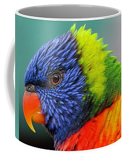 Coffee Mug featuring the photograph Lorikeet Portrait by Rand