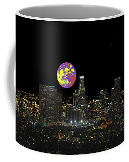 Los Angeles And The Super Alien Moon Coffee Mug