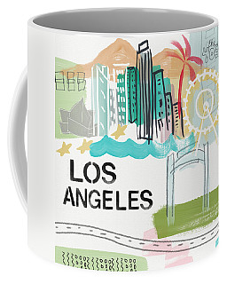 Los Angeles Cityscape- Art By Linda Woods Coffee Mug