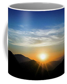 Coffee Mug featuring the photograph Los Angeles Desert Mountain Sunset by T Brian Jones