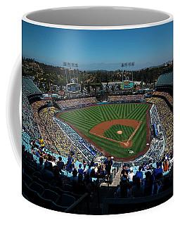 Coffee Mug featuring the photograph Los Angeles Dodgers Dodgers Stadium Baseball 2043 by David Haskett