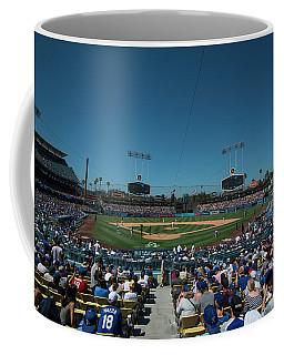 Coffee Mug featuring the photograph Los Angeles Dodgers Dodgers Stadium Baseball 2110 by David Haskett