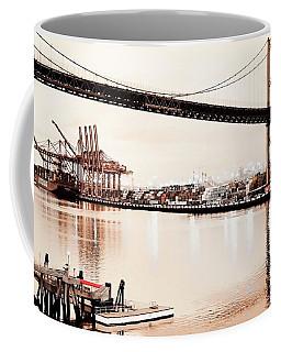 Los Angeles Harbor In Sepia Coffee Mug