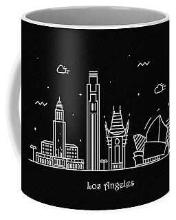 Los Angeles Skyline Travel Poster Coffee Mug