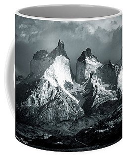 Los Cuernos In Black And White Coffee Mug by Andrew Matwijec