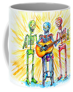 Coffee Mug featuring the painting Los Tres Cantantes by Heather Calderon