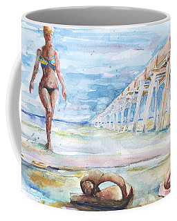 Coffee Mug featuring the painting Lost Flops by Arthur Fix