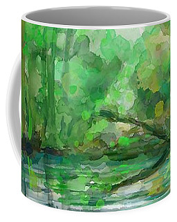 Coffee Mug featuring the painting Lost In Colors  by Ivana Westin