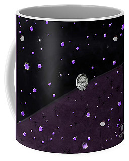Coffee Mug featuring the photograph Lost In Midnight Charcoal Stars by Rockin Docks Deluxephotos