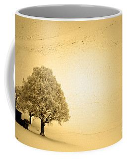 Coffee Mug featuring the photograph Lost In Snow - Winter In Switzerland by Susanne Van Hulst
