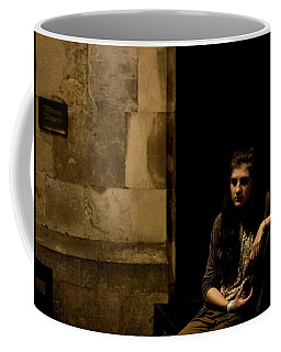 Coffee Mug featuring the photograph A Moment Of Melancholy, Lisbon by Lorraine Devon Wilke
