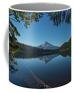 Lost Lake Reflections Of Mount Hood Coffee Mug by Brenda Jacobs