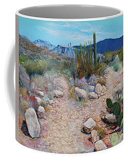 Coffee Mug featuring the painting Lot For Sale by M Diane Bonaparte