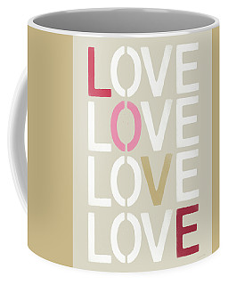 Coffee Mug featuring the mixed media Lots Of Love- Art By Linda Woods by Linda Woods