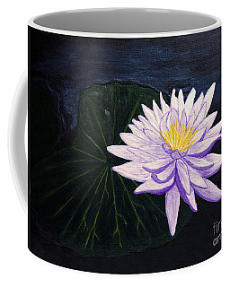 Coffee Mug featuring the painting Lotus Blossom At Night by Patricia Griffin Brett